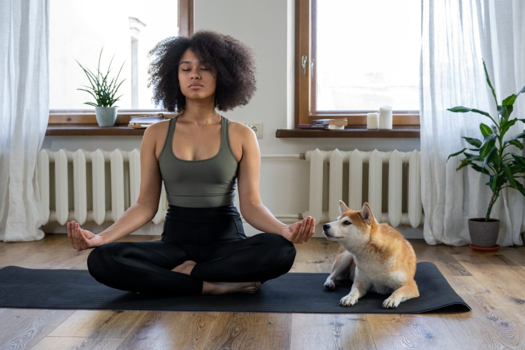 meditate to calm your body with Calmind
