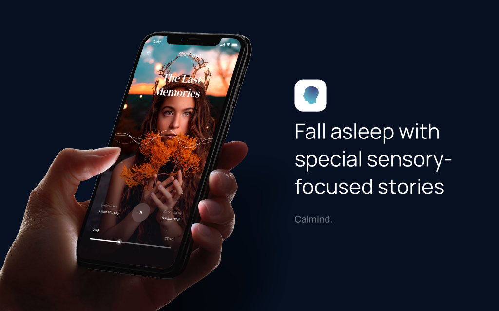 The best sleep app Calmind. Fall asleep faster.